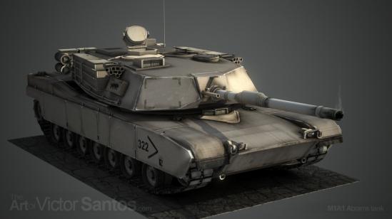 M1A1 Abrams Tank - front